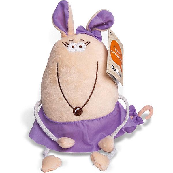 Gulliver Мягкая игрушка Мышка Ягодка, 16 см