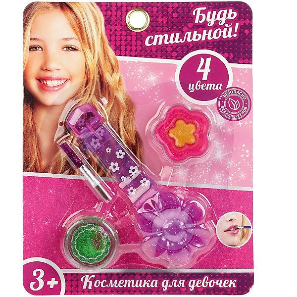 Играем вместе Косметика для девочек Блеск губ. Будь стильной, 4 цвета