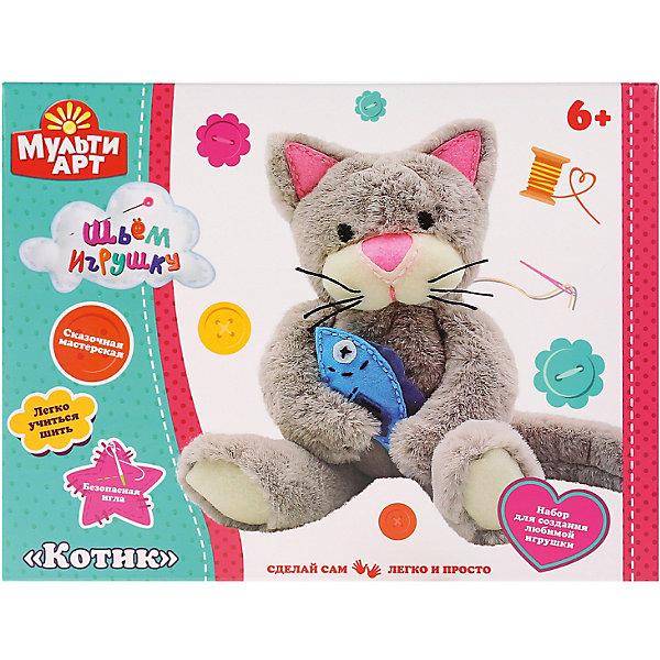 Купить Набор для детского творчества MultiArt Сделай плюшевую игрушку. Котик , Китай, разноцветный, Унисекс