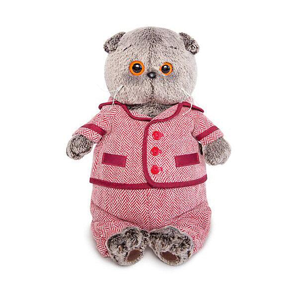 Budi Basa Мягкая игрушка Budi Basa Кот Басик в красном пиджаке и брюках в ёлочку, 30 см