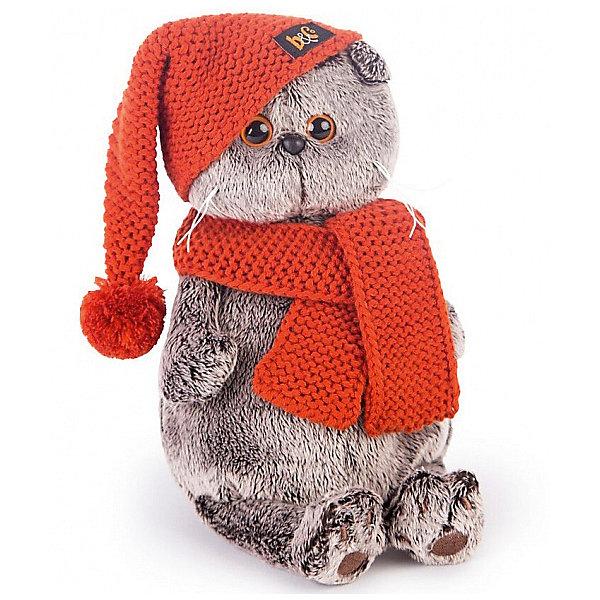 Budi Basa Мягкая игрушка Budi Basa Кот Басик в вязаной шапке и шарфе, 30 см