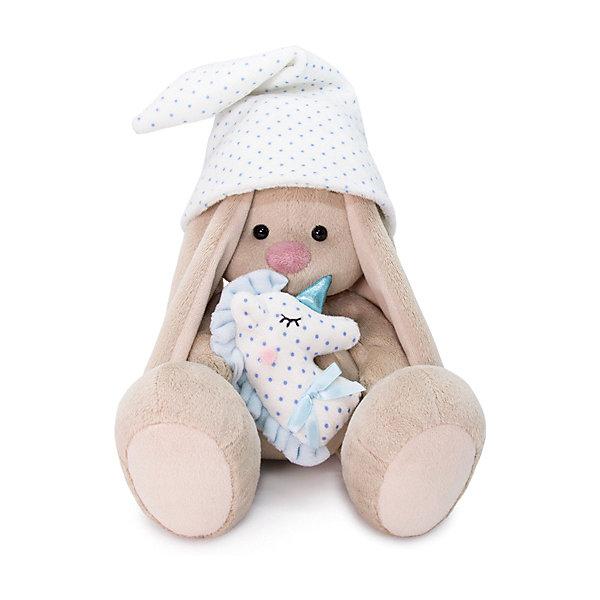 Budi Basa Мягкая игрушка Зайка Ми с голубой подушкой-единорогом, 25 см
