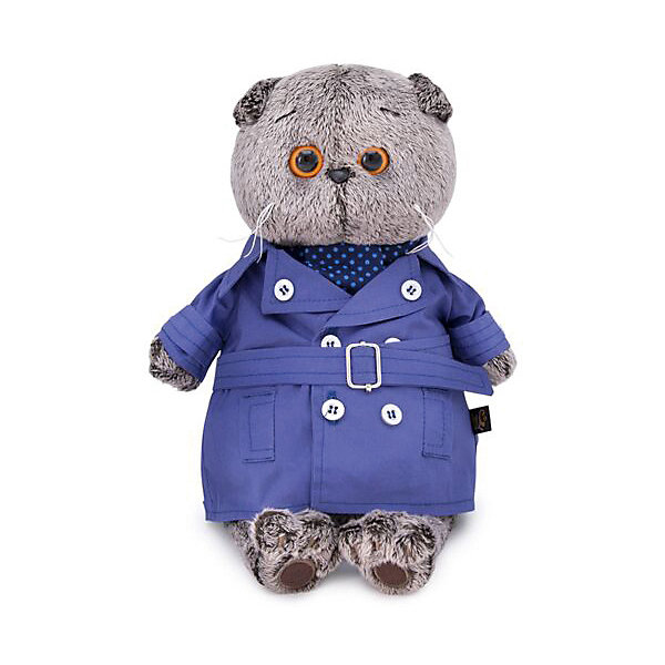 Budi Basa Одежда для мягкой игрушки Budi Basa Плащ темно-синий и галстук для Басика, 25 см