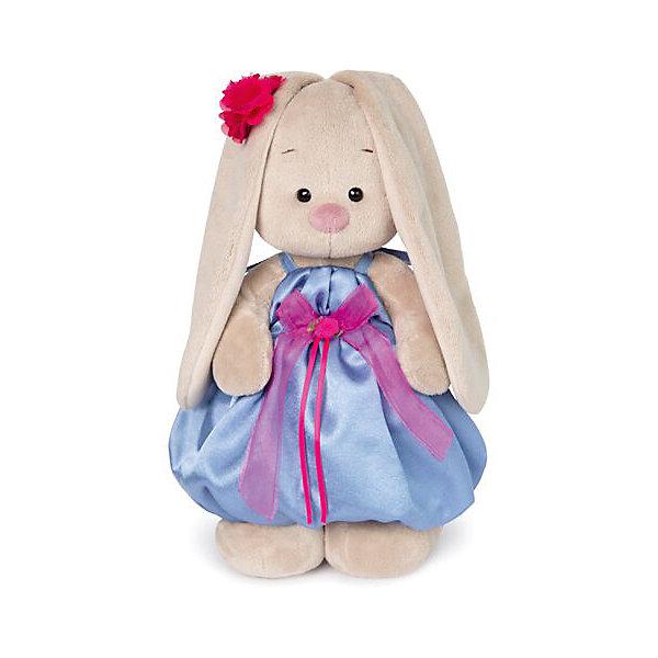 Budi Basa Мягкая игрушка Budi Basa Зайка Ми в синем платье с розовым бантиком, 32 см