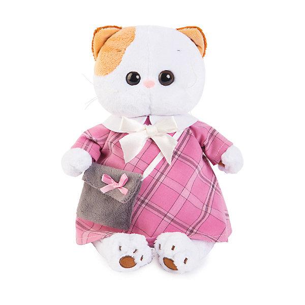 Budi Basa Мягкая игрушка Budi Basa Кошечка Ли-Ли в розовом платье с серой сумочкой, 27 см