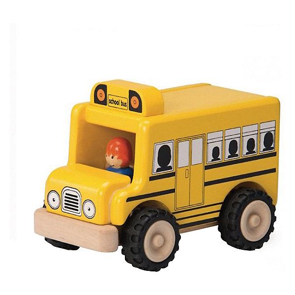 Wonderworld Деревянная игрушка Miniworld Школьный автобус