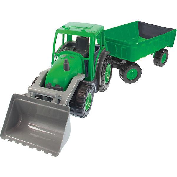 Mochtoys Игрушка Mochtoys Трактор большой с ковшом и прицепом трактор инерционный с ковшом 33 см bt763210 kari