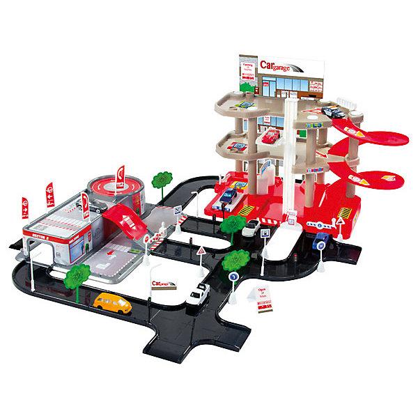 Mochtoys Игровой набор Парковка + сервисный центр