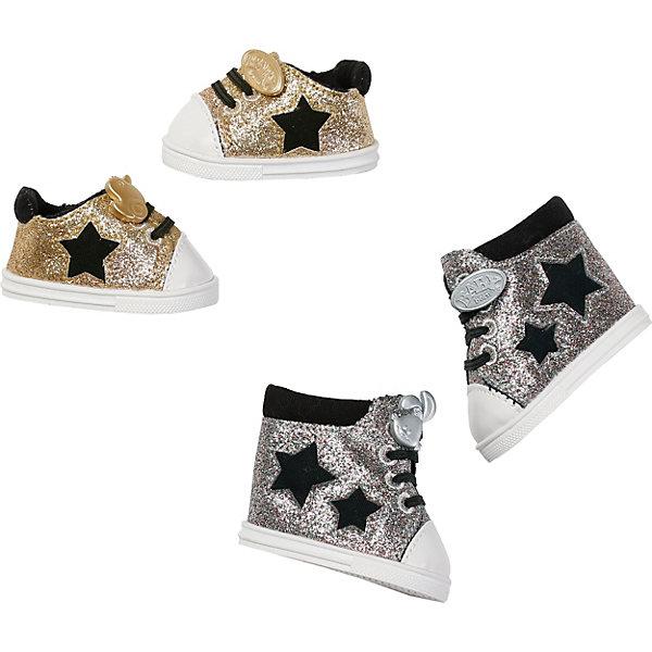 Zapf Creation Обувь для куклы Baby Born Сникерсы, золотые