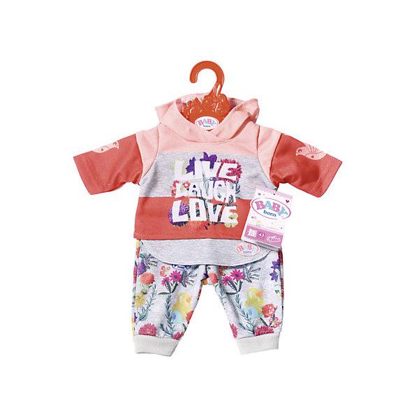 Zapf Creation Одежда для куклы Baby Born Цветочный костюм, красный