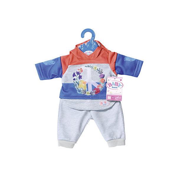 цена Zapf Creation Одежда для куклы Zapf Creation Baby Born Цветочный костюм, синий онлайн в 2017 году