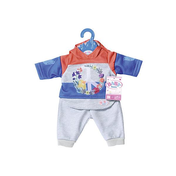Zapf Creation Одежда для куклы Baby Born Цветочный костюм, синий