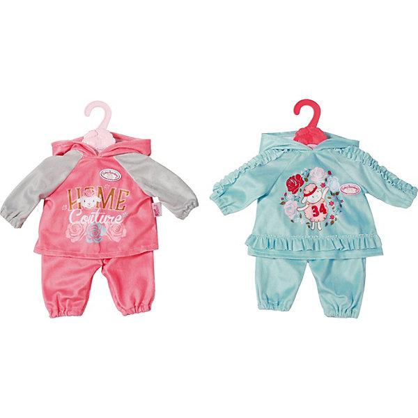 Zapf Creation Одежда для куклы Zapf Creation Baby Annabell Костюмчик, розовый карапуз комплект одежды для куклы курточка и брючки цвет розовый