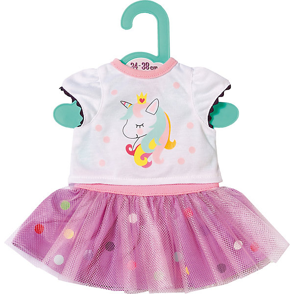 Zapf Creation Одежда для куклы Baby Футболка с балетной юбкой