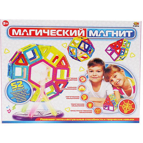 ABtoys Конструктор ABtoys Магический магнит, электро-механический, 52 предмета, свет и звук конструктор tong de магический магнит 52 дет t373 d3512