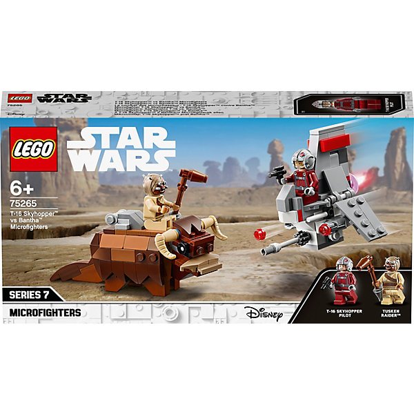 LEGO Конструктор Star Wars 75265: Микрофайтеры: Скайхоппер T-16 против Банты