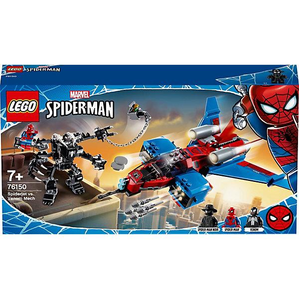 LEGO Конструктор LEGO Super Heroes 76150: Реактивный самолёт Человека-Паука против Робота Венома цена и фото