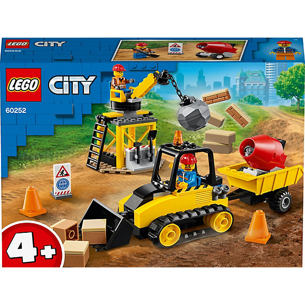LEGO Конструктор City Great Vehicles 60252: Строительный бульдозер