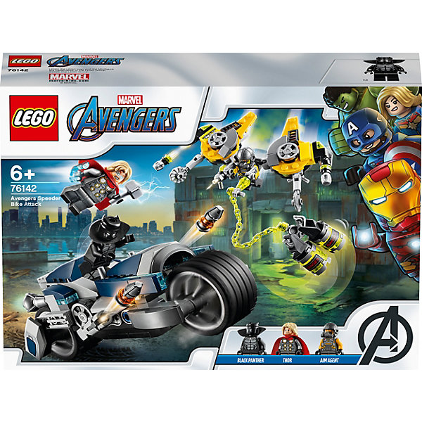 LEGO Конструктор LEGO Super Heroes 76142: Мстители: Атака на спортбайке цена и фото