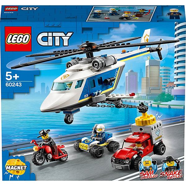 LEGO Конструктор LEGO City Police 60243: Погоня на полицейском вертолёте конструктор lego city погоня по грунтовой дороге 297 элементов 60172