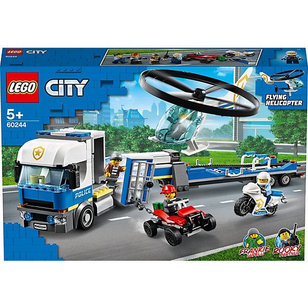 LEGO Конструктор City Police 60244: Полицейский вертолётный транспорт