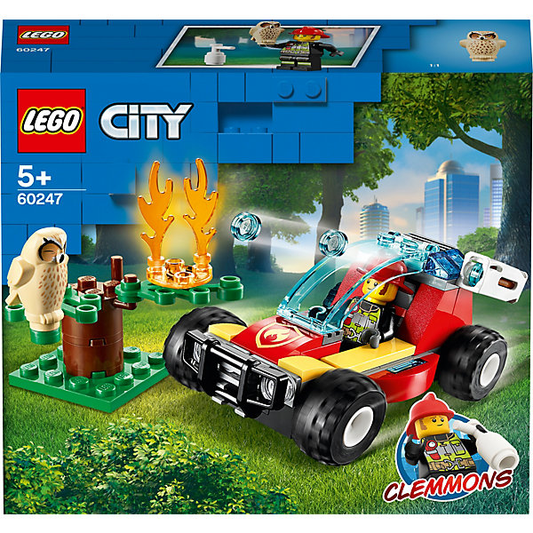 LEGO Конструктор LEGO City Fire 60247: Лесные пожарные конструктор lego city 60248 пожарный спасательный вертолёт