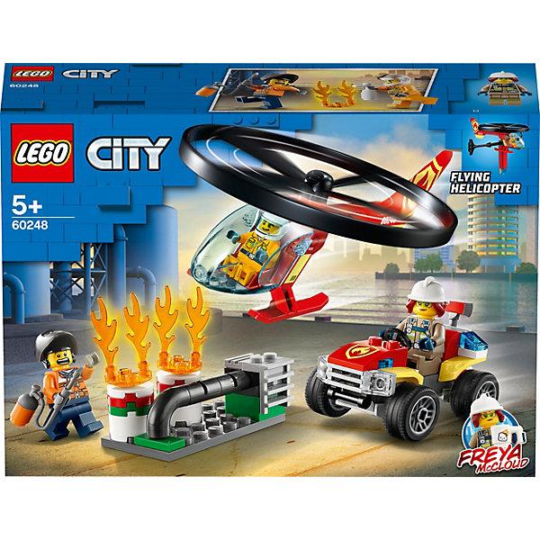 LEGO Конструктор LEGO City Fire 60248: Пожарный спасательный вертолёт lego city 60179 вертолёт скорой помощи lego