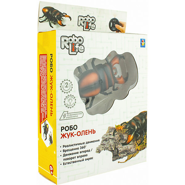 """1Toy Робот 1Toy """"Робо-жук-олень"""", световые эффекты"""
