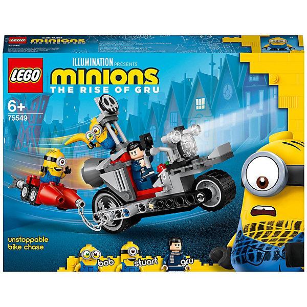 Фото - LEGO Конструктор LEGO Minions 75549: Невероятная погоня на мотоцикле конструктор lego jurassic world погоня за птеранодоном 75926
