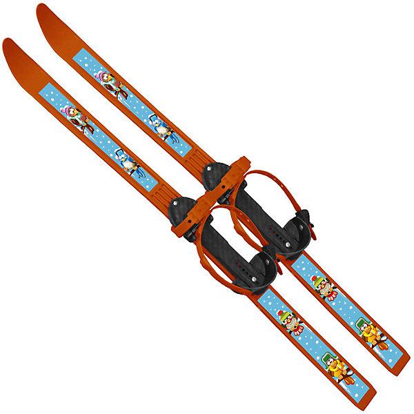 Купить Лыжи с палками Вираж-спорт Птицы 100/100 см, Цикл, Россия, оранжевый, Унисекс