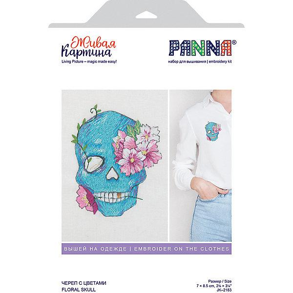 Panna Набор для вышивания PANNA Живая картина. Череп с цветами