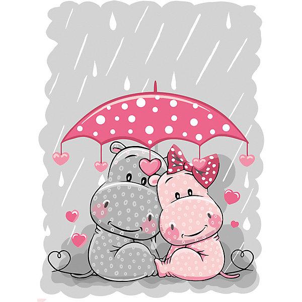 """Картина по номерам Фрея """"Счастье под зонтом"""", картон"""
