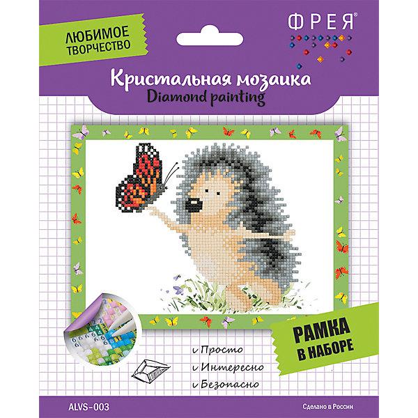 Купить Кристальная мозаика Фрея Ежик с бабочкой , Россия, Унисекс