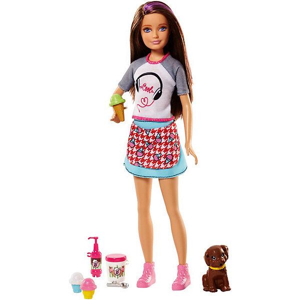 Mattel Игровой набор Barbie Сёстры и щенки Скиппер, 23 см
