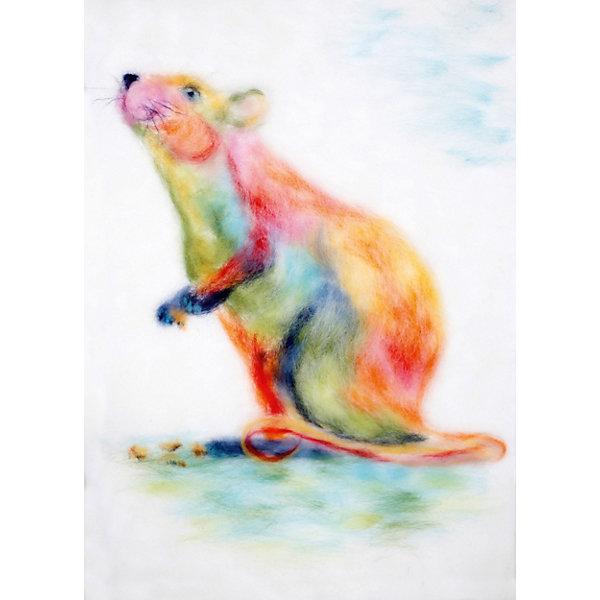 Цветной Набор для валяния Радужная мышка