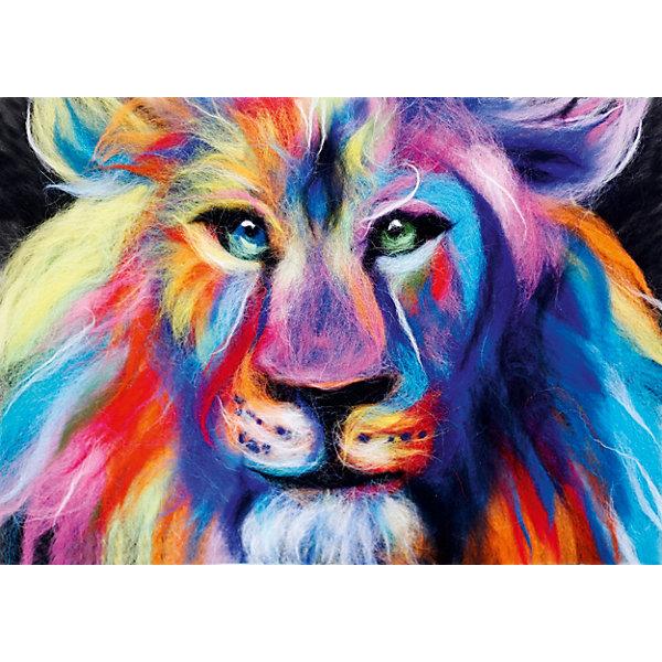 Цветной Набор для валяния Радужный лев