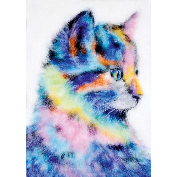 Цветной Набор для валяния Радужный котенок