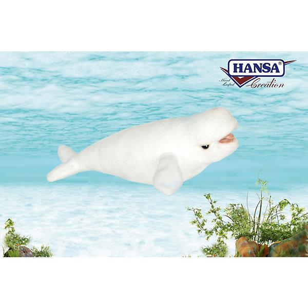 Hansa Мягкая игрушка Hansa Кит белуха, 25 см hansa игрушка hansa яркая ложная жаба 25 см