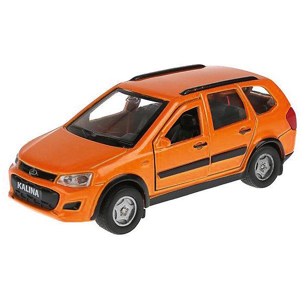 цена ТЕХНОПАРК Металлическая машинка Технопарк Lada Kalina Cross, оранжевая