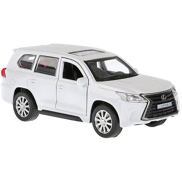ТЕХНОПАРК Металлическая машинка Технопарк Lexus LX-570, белая