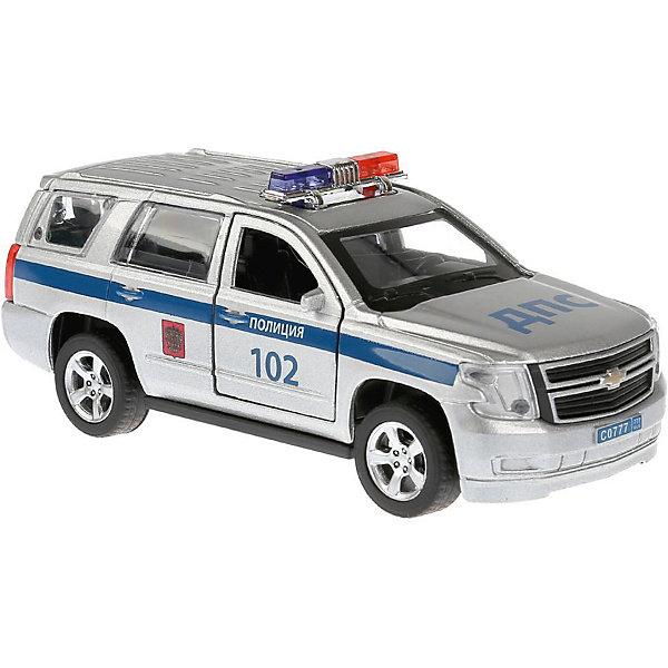 ТЕХНОПАРК Металлическая машинка Технопарк Chevrolet Tahoe, Полиция