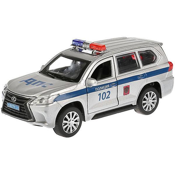 ТЕХНОПАРК Металлическая машинка Технопарк Lexus LX-570, Полиция