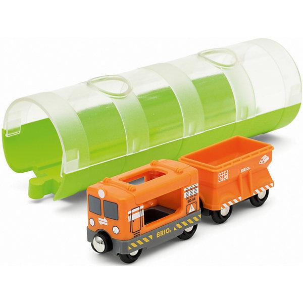 BRIO Игровой набор Brio Грузовой вагон и туннель