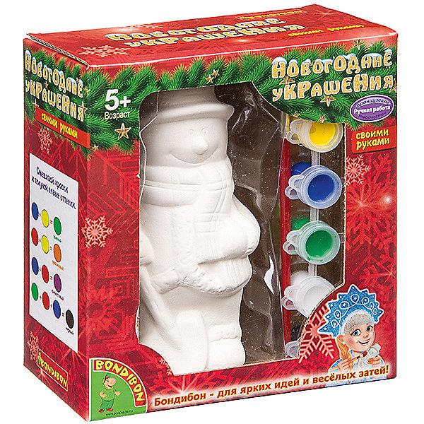 Bondibon Набор для творчества Bondibon Новогодние украшения: снеговик bondibon набор для творчества королева бусинка цвет желтый розовый фиолетовый