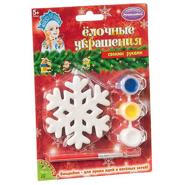 Bondibon Набор для творчества Елочные украшения: снежинка