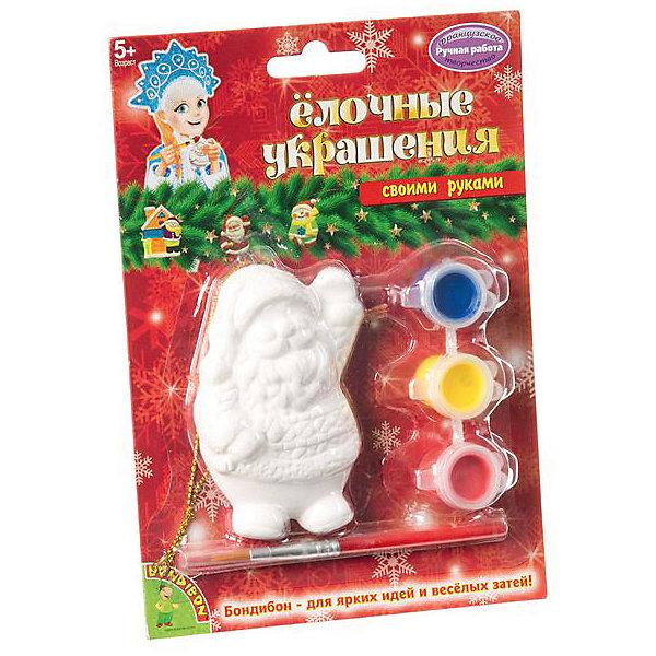 Bondibon Набор для творчества Елочные украшения: Дед Мороз