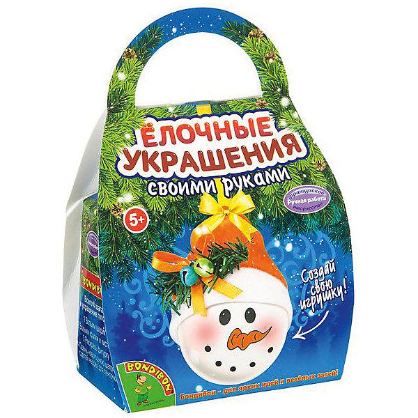 Bondibon Набор для творчества Шар-подарок: снеговичок