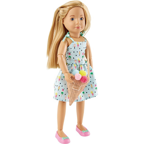 Kruselings Кукла Kruselings Вера в сарафане и с сумкой-мороженое, 23 см