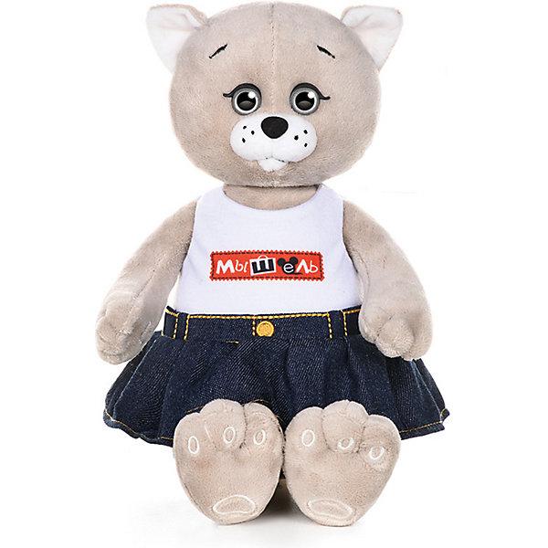Колбаскин&Мышель Мягкая игрушка Мышель в джинсовой юбке 20 см