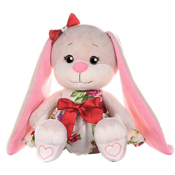 Jack&Lin Мягкая игрушка Зайка в летнем платье 20 см